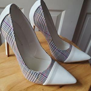 "Shoe Republic LA white 4"" tall heels sz 7.5"